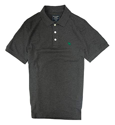 Abercrombie & Fitch Men's Polo Shirt (Dark Grey, M) from Abercrombie & Fitch