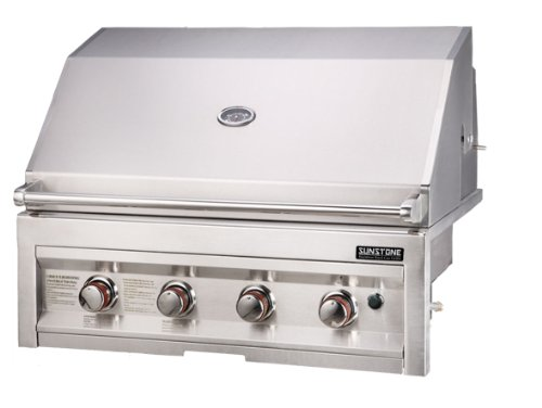 SUNSTONE SUN4B-LP 4-Burner 34-Inch Propane Gas Grill Sunstone Metal Products LLC.