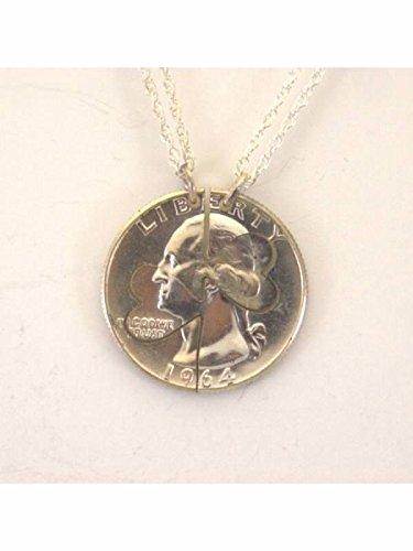 Mercury Dime Heart (Mercury Dime Heart Cut Pair Cut Coin Necklace)