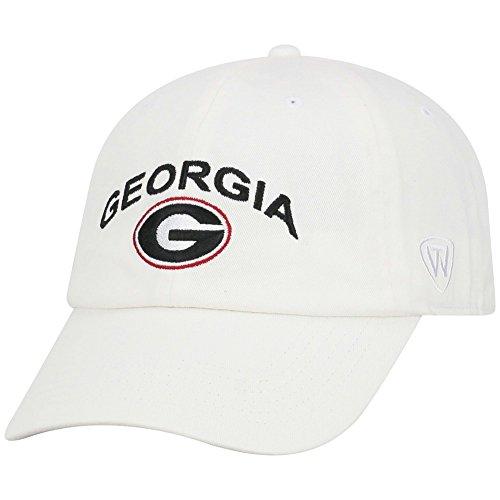 Elite Fan Shop Georgia Hat Arch Icon White - Elite Embroidered Hat