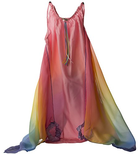 (Sarah's Silks Fairy Dress in Pink with Rainbow Wings)