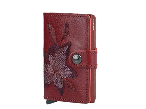 Secrid - Secrid Mini Wallet Stitch Embroidered Vegetable-Tanned - Magnoila Rosso