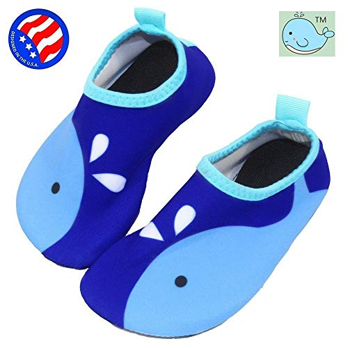 Bigib Toddler Kids Swim Water Shoes Quick Dry Non-Slip Water Skin Barefoot Sports Shoes Aqua Socks for Boys Girls Toddler Fit for Puddle Jumper