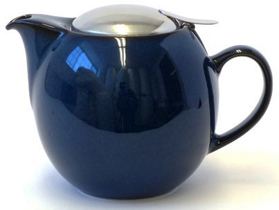 Bee House 26oz Round Ceramic Teapot (Jeans Blue) by Bee House (Zero Japan)