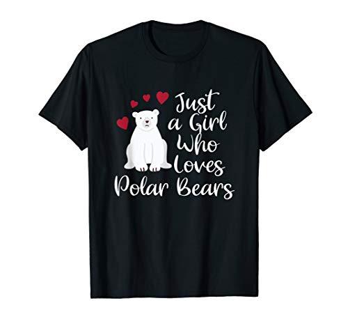 Just A Girl Who Loves Polar Bears Arctic Animal Gift T-Shirt]()