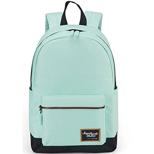 Women Ladies Girls Cute Rucksack Backpack Lightweight Waterproof School Bags (Cyan black)