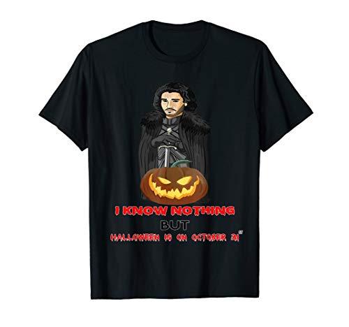 Halloween Funny Jon Game Gift Idea Throne Pumpkin Knows   T-Shirt