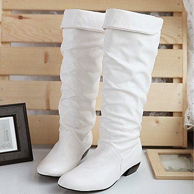 Toe Chunky EU35 CN34 High Boots Fashion Evening RTRY Boots For Boots amp;Amp; UK3 Heel Leatherette Winter Round Comfort Fall US5 Party Women'S Shoes Pu Knee Novelty 4gwqP6p