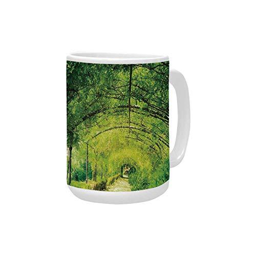 (Italian Decor Ceramic Mug,Boboli Gardens in Florence Italy Famous Natural Landmark Tourist Attraction for Home,15OZ)