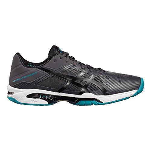 Asics Gel-Solution Speed 3, Scarpe da Tennis Uomo Grey Foncia/Black/turquoise