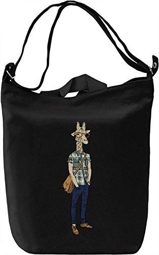 Hipster giraffe Borsa Giornaliera Canvas Canvas Day Bag| 100% Premium Cotton Canvas| DTG Printing|