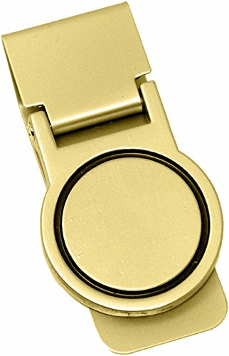 Orbital Shiny Gold Stainless Steel Hinged Money Clip