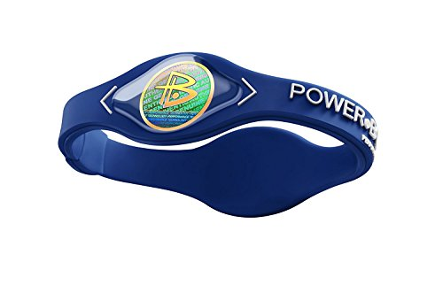 Power Wristbands - Power Balance Bracelet Hologram Silicone Original Strength And Flexibility Estabilidad Sport Tecnology Neture Body Energy Basketball (L, Blue-White)