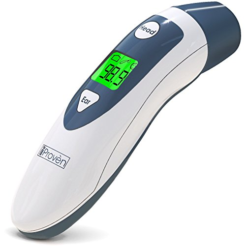 Baby Forehead Thermometer with Ear Function- iProven DMT489 Gray Cap - FDA and CE Approved - Clinical Accuracy Suitable for Baby, Infant, Toddler and Adults by iProvèn (Image #9)'