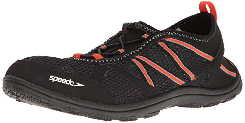 Speedo Men's Seaside Lace 5.0 Athletic Water Shoe, Black/Orange, 9 C/D US from Speedo
