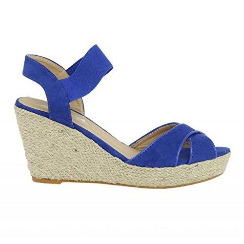 61953 Mujer cuña ANT AZUL de Zapatos de REFRESH O6wXz