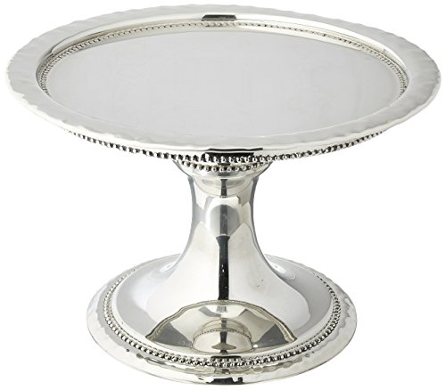 Reed & Barton 7520 Heritage Banded Bead Small Cake Stand, Silver