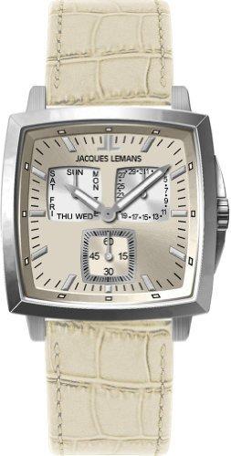 Jacques Lemans Milano 1-1474E Gents Beige Leather Strap Watch