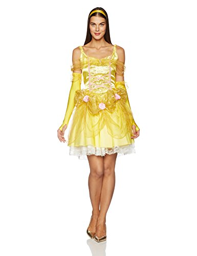 Pink Belle Costumes (Disguise Disney Beauty And The Beast Sassy Belle Costume, Gold/Yellow/Pink, Large/12-14)