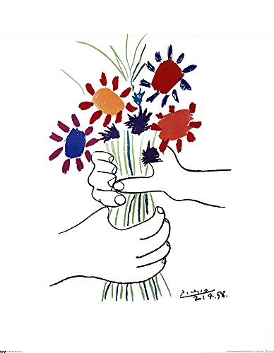 Bouquet with Hands by Pablo Picasso Art Print, 24 x 30 inches