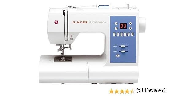 Singer Confidence 7465 - Máquina de Coser electrónica, 50 Puntadas, Color Blanco: Amazon.es: Hogar
