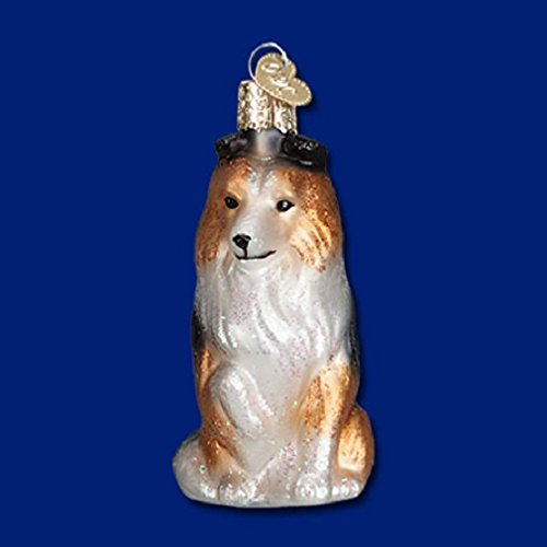 SHELTIE Shetland Sheepdog Glass Ornament