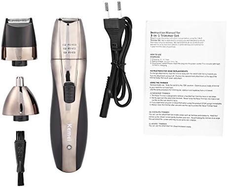 Eléctrico afeitadora Set, de 3 en 1 portátil resistente al agua ...