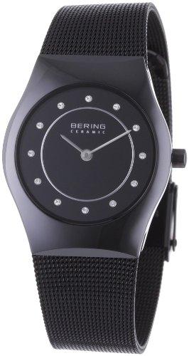 Bering Time 32030-446 Ladies Ceramic Mesh Watch