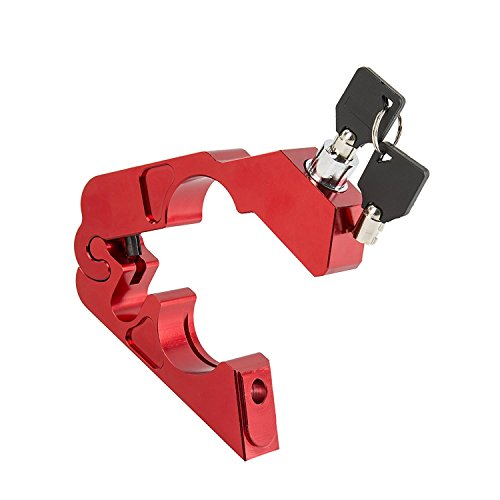 Soosee Motorcycle Lock - Universal  alloy CNC Motorcycle Handle Throttle Grip Security Lock with 2 Keys to Secure a Bike, Scooter, Moped or ATV in Under 5 Seconds