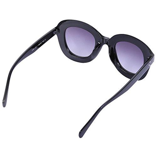 UV400 de Gafas de sol Sunglass Gafas Negro de mujer femeninos gato S17052 sol de SODIAL Verde ojo Gafas vintage 0AZxw6q6
