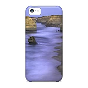 Premium Protection Big Rocks Along The Coast Case Cover For Iphone 5c- Retail Packaging