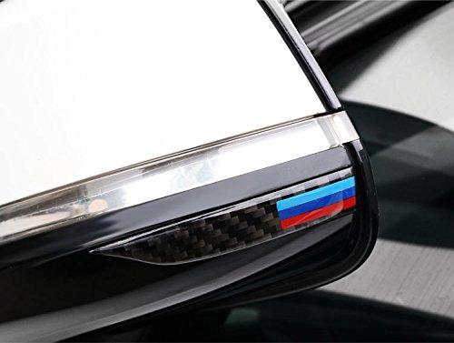 Set di 2 strisce adesive in fibra di carbonio per evitare urti e graffi agli specchietti retrovisori esterni, modanatura decorativa per BMW Serie 1 2 3GT 4 X1 F20 E82 E84 E88 F22 F23 F44 F45 F46 F48 G24 F32 F33 F36 G22 G23 G26 F10 F07 E60 E90 F01 Sti