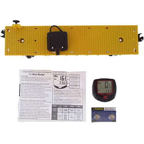 Rail Buddy Yellow Flatcar O Gauge Model Train Speedometer Odometer -