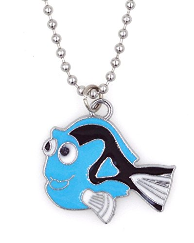 """Price comparison product image 21.6"""" 2.4mm Stainless Steel Ball Chain with Clasp Necklace Blue Fish (LC 2M)"""
