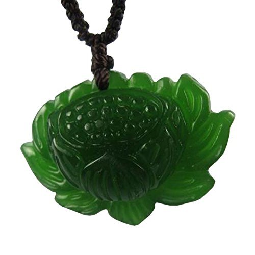 Chinese Culture /Green Jade / Lucky God Green Rune Carving Pendant (Set4) (Green Jade Carving)