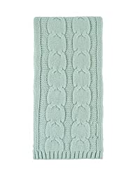 Great British Knitwear Ladies Zt004 100 Cashmere Cable Knit Scarf Made In Scotland Peridot One Size