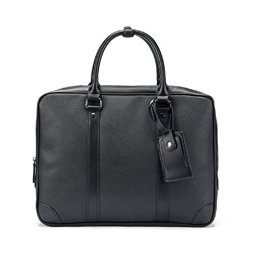 Negocios Moda Cuero Paquete maletín de ZHRUI Bolso portátil Casual Trende Bolso 1 de de la Bolso Ordenador PU Manera la Bolso del de Bolso de Hombres del Negro para Negro Crossbody Hombro de Bolso de xaqqnHwYd