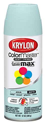 Colormaster Indoor/Outdoor Aerosol Paint 12Oz-Aqua