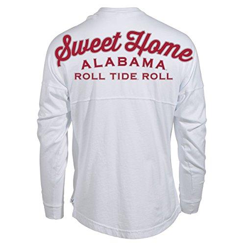 Official NCAA Venley University of Alabama Crimson Tide UA ROLL TIDE! Women's Long Sleeve Spirit Wear Jersey T-Shirt