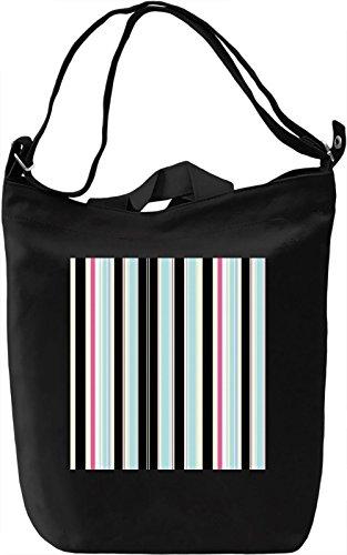 Vertical Stripes Print Borsa Giornaliera Canvas Canvas Day Bag| 100% Premium Cotton Canvas| DTG Printing|