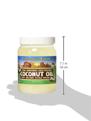 Carrington Farms Organic Extra Virgin Coconut Oil, 54 Ounce, 4 Pack by Carrington Farms (Image #1)