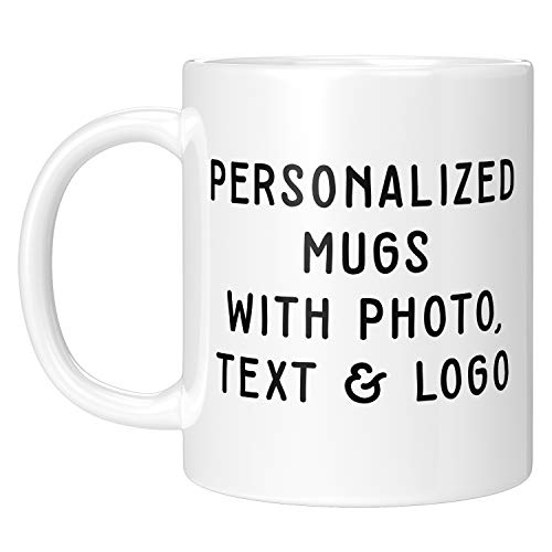 Custom Photo Mugs - 11oz Customized Coffee Mug - Add Photo