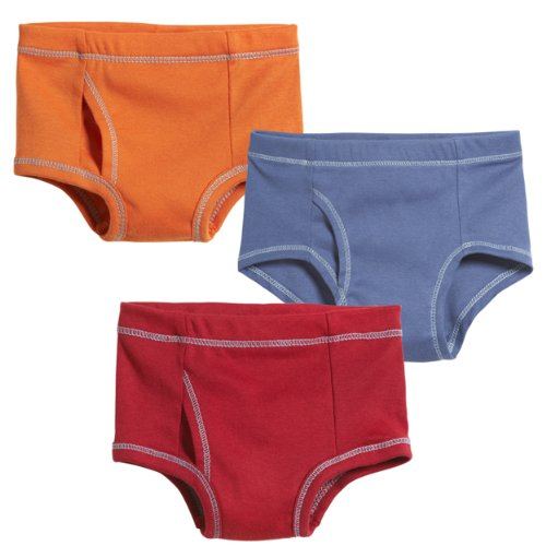 City Threads Boys' Brief Underwear All Cotton for Sensitive Skins SPD Sensory Friendly 3-Pack, Brights -8