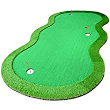 77tech Golf Putting Green System Professional Practice Green Long Challenging Putter Indoor/Outdoor Golf Training Mat Aid Equipment