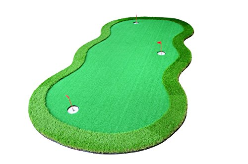 77tech Large Artificial Grass Golf Putting Green Mat Indoor/Outdoor Golf Training Aid Equipment Mat ()