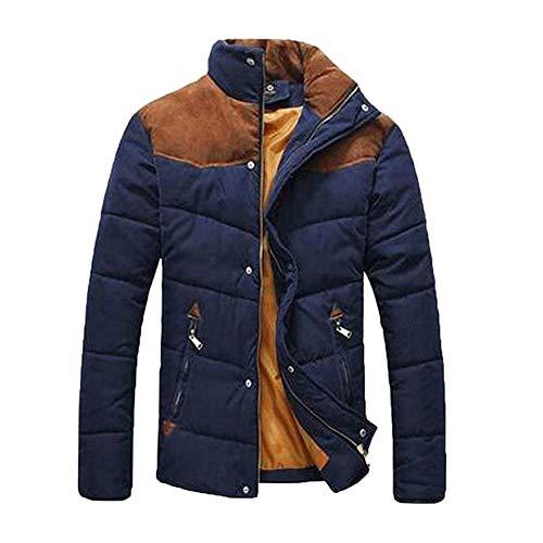 Uomini Giacca Comode Collare Inverno Basamento Degli Taglie Blau Manica Abbigliamento Modo Calda Trapuntato Hx Cappotto Di All'aperto Corto Lunga Campeggio Giù 5E7xqawX