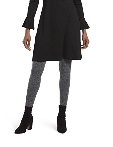HUE Women's Fashion Sweater Tights with Non Control Top, Assorted, Brushed - Graphite Heather, M/L