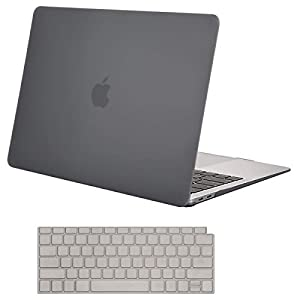 MOSISO MacBook Air 13 Inch Case 2018 Release A1932 with Retina Display, Plastic Hard Case Shell & Keyboard Skin Cover Only Compatible Newest MacBook Air 13 with Touch ID, Gray