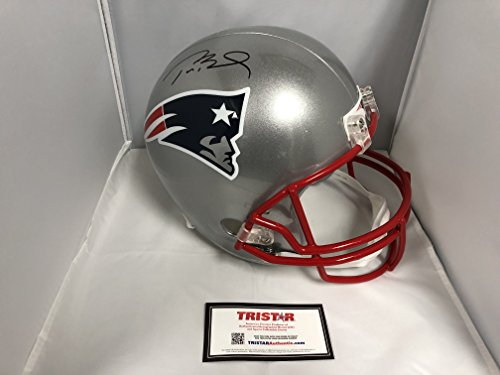 Tom Brady Autographed New England Patriots Full Size Helmet With Custom Game Model Helmet Decals TriStar Authentic Hologram & COA Card from Signature Dog Autographs