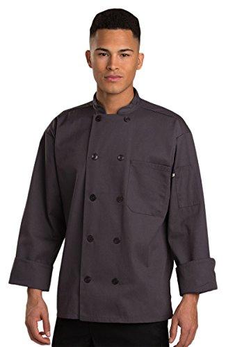 chef coat men grey - 7